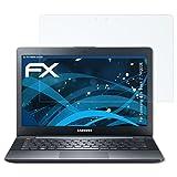 atFolix Panzerfolie für Samsung Ativ Book 7 (740U3E) Folie - 2 x FX-Shock-Clear stoßabsorbierende ultraklare Displayschutzfolie