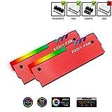 EZDIY-FAB ARGB RAM Kühler RGB DDR Speicher Kühlkörper Kühlweste Fin Strahlung für DIY PC DDR3 DDR4 (kompatibel mit ASUS Aura Sync,GIGABYTE RGB Fusion und...