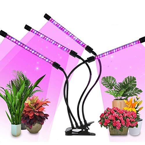 VIFLYKOO Lampe de Croissance pour Plantes,Lampe de Plante 4 têtes 40W 80 LED Dimmable 10 Niveaux...