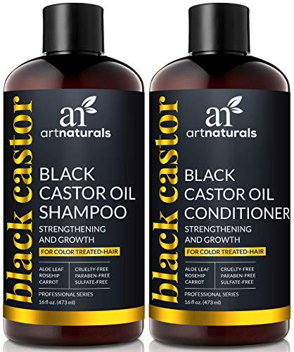 Artnaturals Noir Castor-oil Shampooing et revitalisant Définit – (0,1 x 0,5 l/473 ml) – renforcer, développer et de restauration des – Jamaican Ricin – pour cheveux colorés
