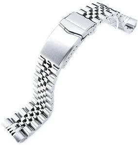 Bracciale per orologio Strapcode 22mm Super 3D Jubilee in acciaio inossidabile 316L per Seiko New Turtles SRP777 e PADI SRPA21, V-Clasp spazzolato