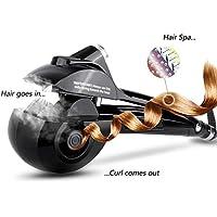 Wende Automatic è una piastra per arricciare i capelli con piastre in ceramica e display digitale LED (black)