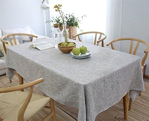 (PLYY Tischdecke Dick Hanf Kunst Modern Blau und Weiß Grau Braun Baumwolle und Leinen Tischdecke Konferenz Western Runde Tischdecke Tee Tischdecke, Gray, 90 * 90)