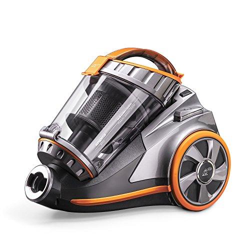 PUPPYOO WP9005B Aspirador Ciclónico sin Bolsa Potente de 800W Aspirador del Hogar con 6 Accesorios, Aspiradoras de Trineo