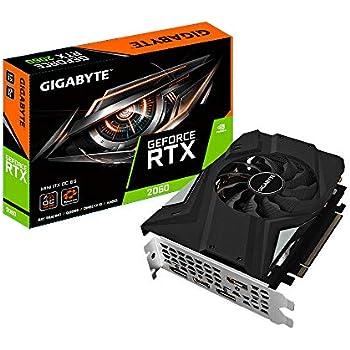 Gigabyte GV-N2060IXOC-6GD GeForce RTX 2060 6 GB GDDR6 - Tarjeta gráfica (GeForce RTX 2060, 6 GB, GDDR6, 192 bit, 7680 x 4320 Pixeles, PCI Express x16 ...