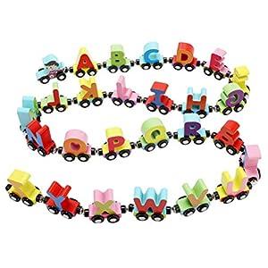 STOBOK Treno Alfabeto Magnetico in Legno Giocattoli Legno Montessori Giocattoli educativi per Bambin