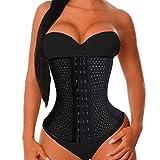 Chumian Damen Waist Training Body Tailenmieder Sport Girdle Corset Tummy Control (S (2-3 Days Delivery), Black (UK Seller))
