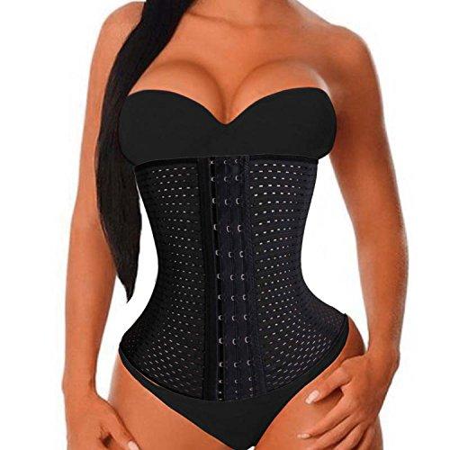 Damen Waist Training Body Tailenmieder Sport Girdle Corset Tummy Control (M (2-3 Days Delivery), Black (UK Seller)) (Die Graben Knochen)