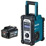 MAKITA Akku-Baustellenradio DMR 110 DAB/DAB+ 7,2-18 V + 1x Akku 10,8 Volt 4,0 Ah Digital Audio Radio DMR110
