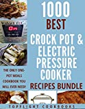 Enjoy these 1000 Best One-Pot Pressure Cooker and Crock Pot Recipes for Quick and Easy Stress-Free Meals******LIMITED TIME PROMOTIONAL OFFER OF $0.99 (From $9.99)********* Read For Free with Kindle Unlimited.***Modern day pressure cookers have become...