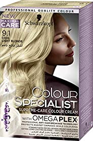 Schwarzkopf Colour Specialist Supreme-Care Colour Cream, 9.1 Light Blonde,60 ml
