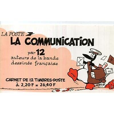 La communication par 12 auteurs de bande dessinée française - carnet de 12 timbres La Poste