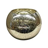 Portacandela in vetro Lani–Vaso sferico–Champagne–Portacandela–vaso decorativo, Vetro, Gelb, 15,5 cm