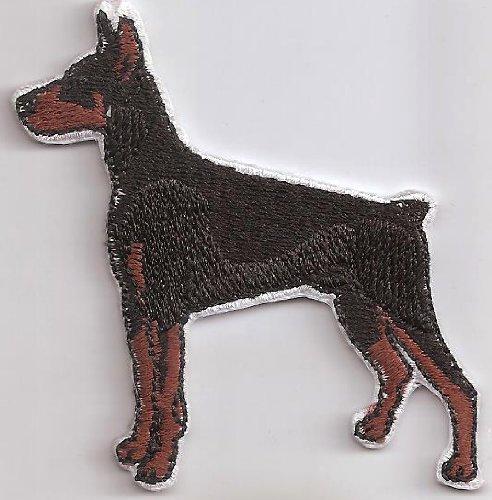 Dobermann Hund Dog Dober mann Hundeführer Leine Patch Aufnäher Abzeichen (Mann Ohne Abzeichen)