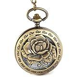 Yesurprise Montre à Gousset Pendatif de Poche Bronze W031 Rose