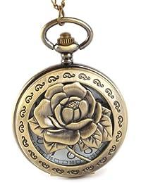 YESURPRISE Taschenuhr Quarz Uhr mit Kette uhr Pocket Watch