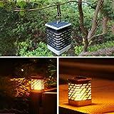 Gaddrt Oro Armatura Solar Lights Outdoor Flickering Flames Torcia Solare Percorso Light Dancing Flame Illuminazione Giardino Impermeabile Fino a 10 Ore Impermeabile IP55