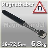 Magnet Teleskopstab Magnetgreifer Magnetheber 19-72,5 cm - Haftkraft 6,8 kg -