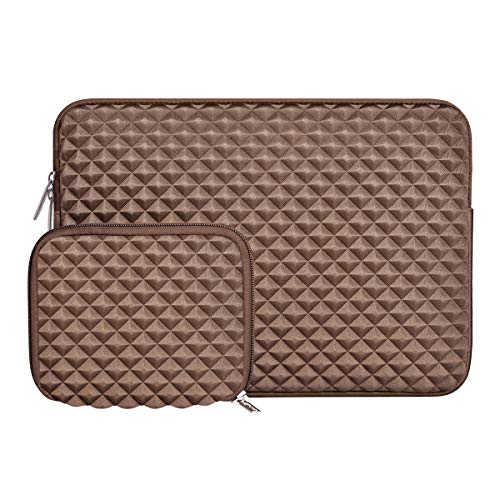MOSISO Notebook-Tasche Diamant-Schaum Wasser abstoßende Neopren-Tasche 13-13,3 Zoll Coffee Brown (Hp 13-zoll-tablet-fall)