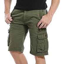 dc2d444c48 AYG Cargo Shorts Bermudas Hombre Pantalones Cortos Laboral 29-40