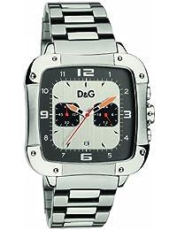 D&G Dolce&Gabbana DW0246 - Reloj cronógrafo de caballero de cuarzo con correa de acero inoxidable plateada