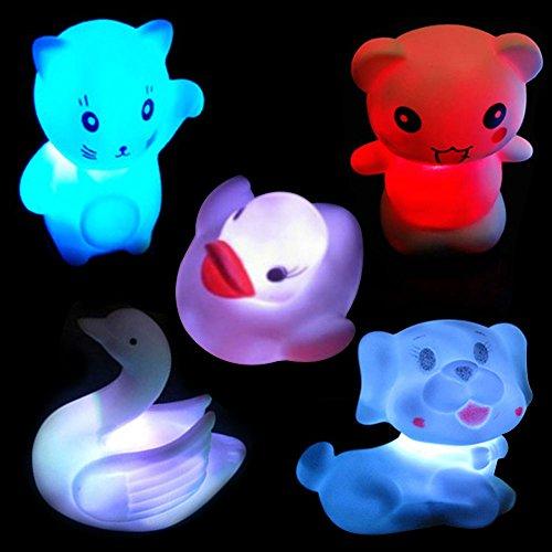 Youpin 2pcs 7 Color Changing Rose Flower Night Light,Rose Shape Candle LED Mostone Night Lamp...