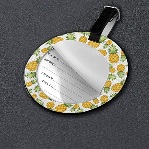 Zoom IMG-2 round travel luggage tags pineapples