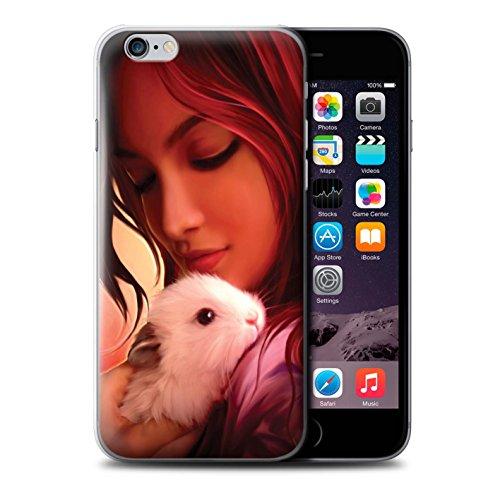 Officiel Elena Dudina Coque / Etui pour Apple iPhone 6S+/Plus / Le Voyageur/Manchot Design / Les Animaux Collection Dans mes Bras/Sûr