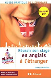 Réussir son stage en anglais à l'étranger (1CD audio)