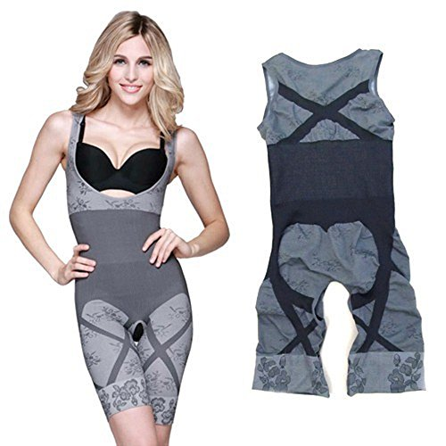 Damen Shapewear Figurformender Body Grau