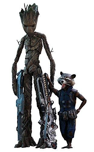 Hot Toys - Figuras de Groot & Rocket de los Vengadores: película de Guerra Infinity, Multi