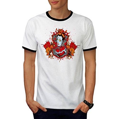 Drachen Monster Zombie Teufel Frau Herren M Ringer T-shirt | Wellcoda