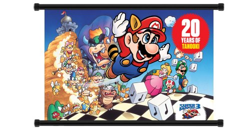 Super Mario Bros 3 Game Fabric Wall Scroll Poster (32x21) Inches