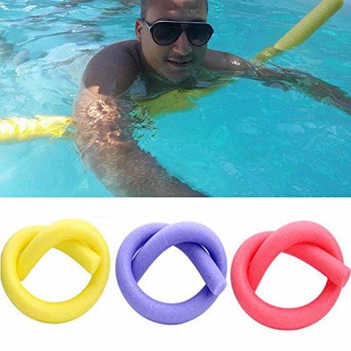 Uxradg, tubo galleggiante per piscina, lungo, ausilio per galleggiare, tubo in schiuma densa, chiudibile ad anello, per adulti e bambini, nucleo duro