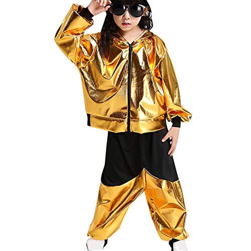Gtagain Kostüm Hip Hop Dancewear Mädchen - Tanzsport Jungen Pailletten Dance Ballsaal Modern Jazz Kleidung Top Hose Tanzbekleidung Kostüme - Tanzsport Kostüm Für Jungen