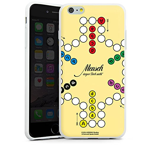 Apple iPhone X Silikon Hülle Case Schutzhülle Mensch ärger Dich nicht großes Spielbrett Silikon Case weiß