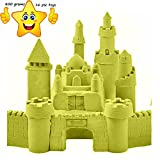 Jewelscart yellow sand Color 800 GRAMS+16 TOYS Kinetic Motion Magic Sand For Kids Clay Replacement