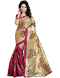 Vinayak Textiles Women's Bhagalpuri Silk Party Wear Saree With Blouse NWBGL83
