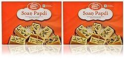 Doodh Misthan Bhandaar(DMB Sweets) Soan Papdi, 900 grams (Pack of 2)