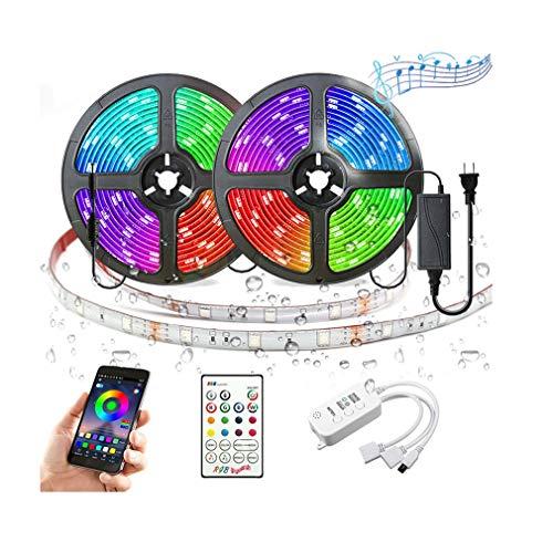 AJIC LED luci di Striscia App Colori di Controllo Modifica 5050 Strisce di RGB 300 LED Luce Kit con 23 Tasti Telecomando 12V Alimentazione for casa da Letto Cu