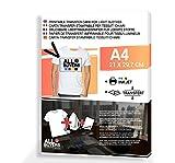 Papier transfert pour impression pour t-shirts-A4-transfert de l'image sur mailles col fer à repasser x 10feuilles A4pour t-shirts-2aintimo®