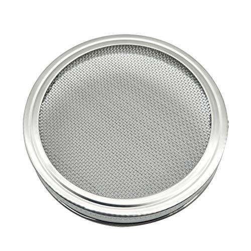 BESTZONZON 3.3-Zoll-Edelstahl-Sprießende Deckel für breite Mund-Maurer-Gläser für die Herstellung der organischen Sprössling-Samen im Haus und in der Küche