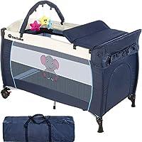 TecTake Cuna infantil de viaje portátil altura ajustable con acolchado para bebé - disponible en diferentes colores - (Azul   No. 402201)