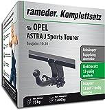RAMEDER Komplettsatz, Anhängerkupplung abnehmbar + 13pol Elektrik für OPEL ASTRA J Sports Tourer (116949-09017-1)