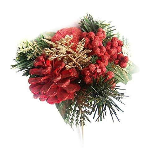QZHE Weihnachtsschmuck Für Weihnachten Weihnachten Kranz DIY Schneiden Blumen/Dekorative Accessoires Für Weihnachtsferien Party Dekorationen