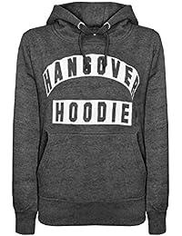Damen Kapuzenpullover, Motiv: Hangover Hoodie, Aufdruck, Lange Ärmel, Damen-Sweatshirt