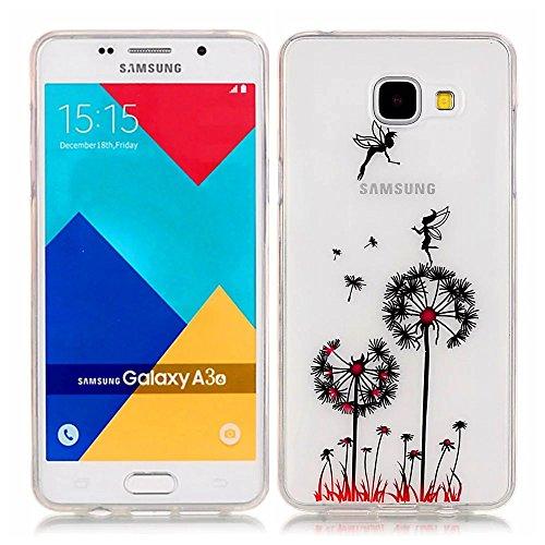 Samsung Galaxy A3(2016)A310 Custodia,KSHOP TPU Custodia conchiglia Caso Case Cover in silicone morbido Flessibile TPU modelli colorati - Dente di leone con