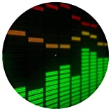 Je 1 (Single) SLIPMAT GRAPHIC EQUALIZER - Vinyl Schallplatten DJ deejay Deck EP LP Matte 30,48 cm Scratch Mix Mischpult DMC technics Pioniere Filz Hip Hop Bass Drum N Slipmats old skool Spieler Hardcore Trance DUB Step Bashment Techno Servierplatte Geschenk zur DJs