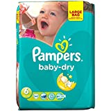 Pampers Baby Dry Taille 6 Extra Large 16 kg + (44) - Paquet de 6