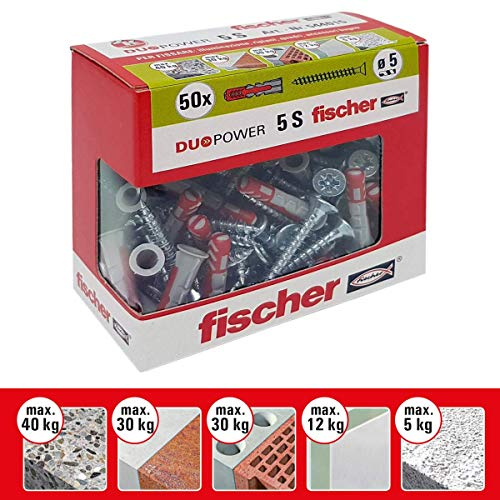 Fischer 544015tacos tornillo Murature llenos, perforadas